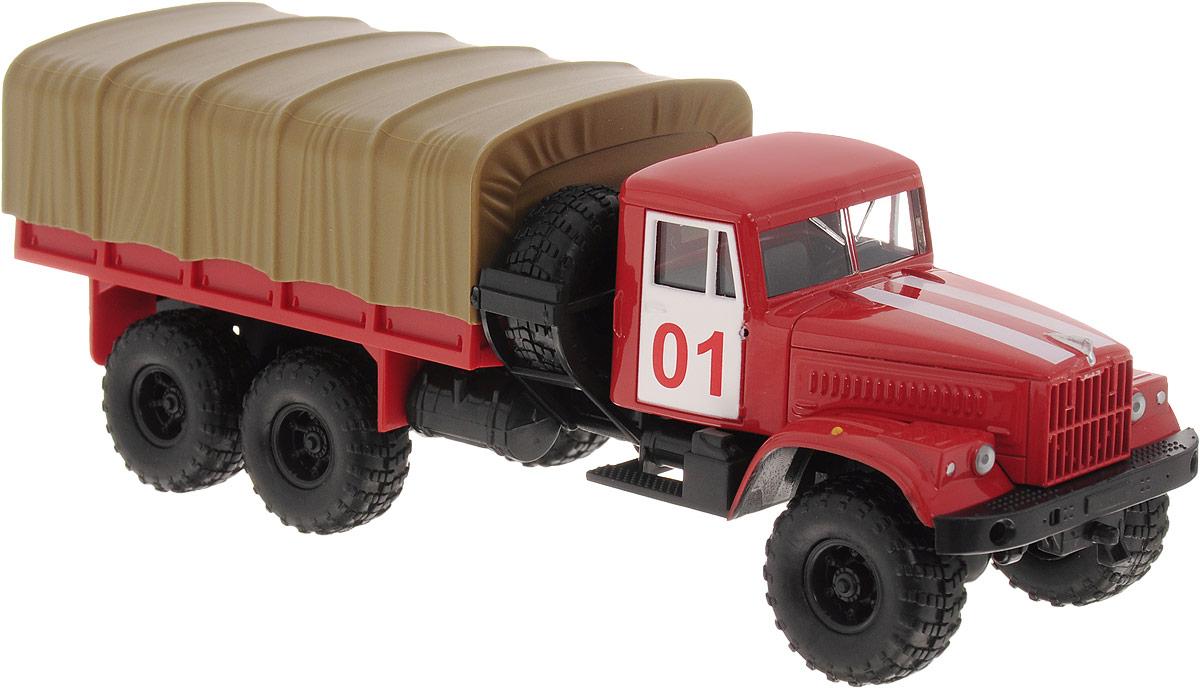 Autotime Модель автомобиля KRAZ-255В цвет красный болотный машинки autotime машина uaz 31514 ваи