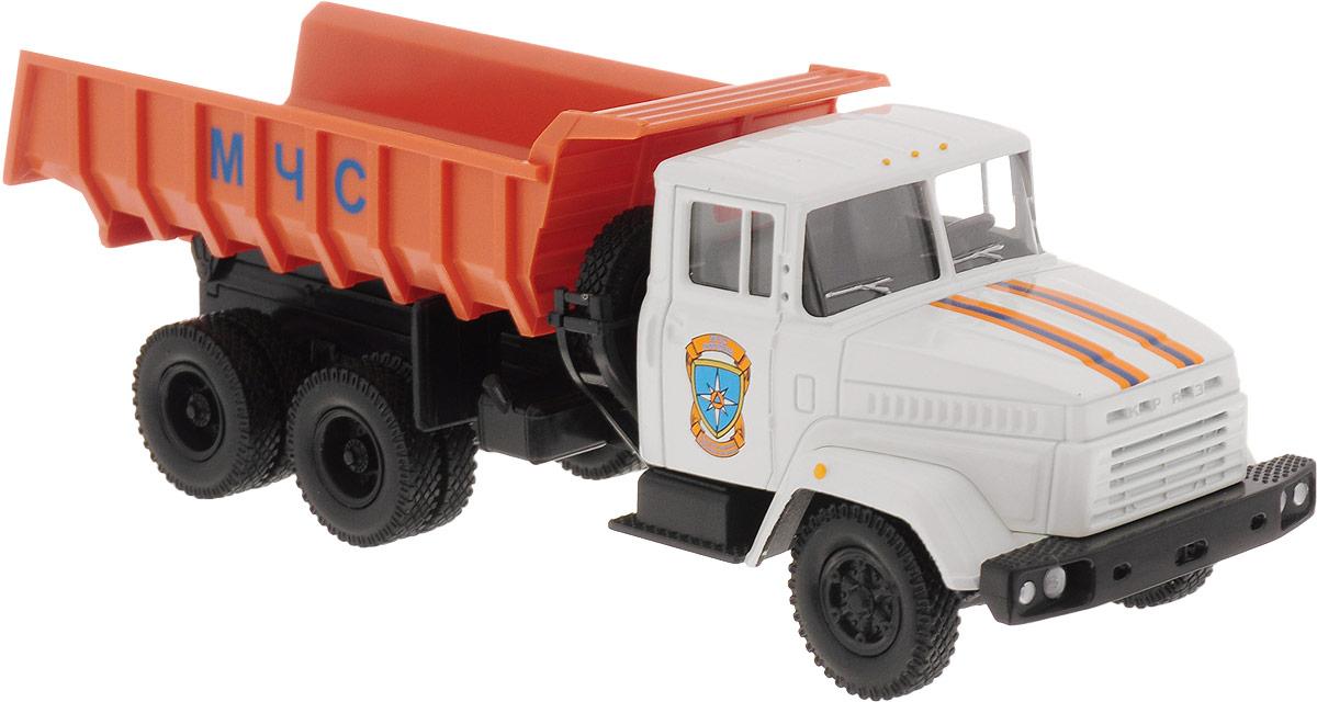 Autotime Модель автомобиля KRAZ-6510 цвет белый оранжевый машинки autotime машина lada 2104 такси