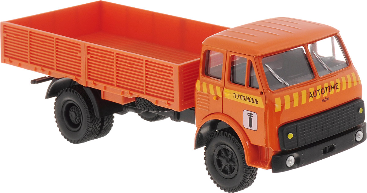 Autotime Модель автомобиля МAZ-5335 цвет оранжевый машинки autotime машина maz 5335 милиция ссср