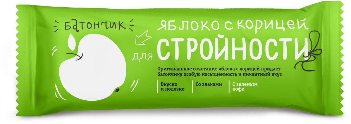 БиоИнновации Яблоко с корицей для стройности батончик, 30 шт по 25 г132304Батончик-мюсли Яблоко с корицей для стройности – вкусная и полезная сладость.Содержит злаки, фрукты и ягоды.Удобно взять с собой.Содержит зеленый кофе.
