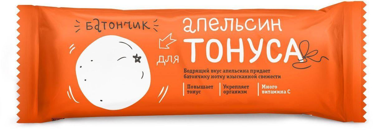 БиоИнновации Апельсин для тонуса батончик, 30 шт по 25 г полезный перекус