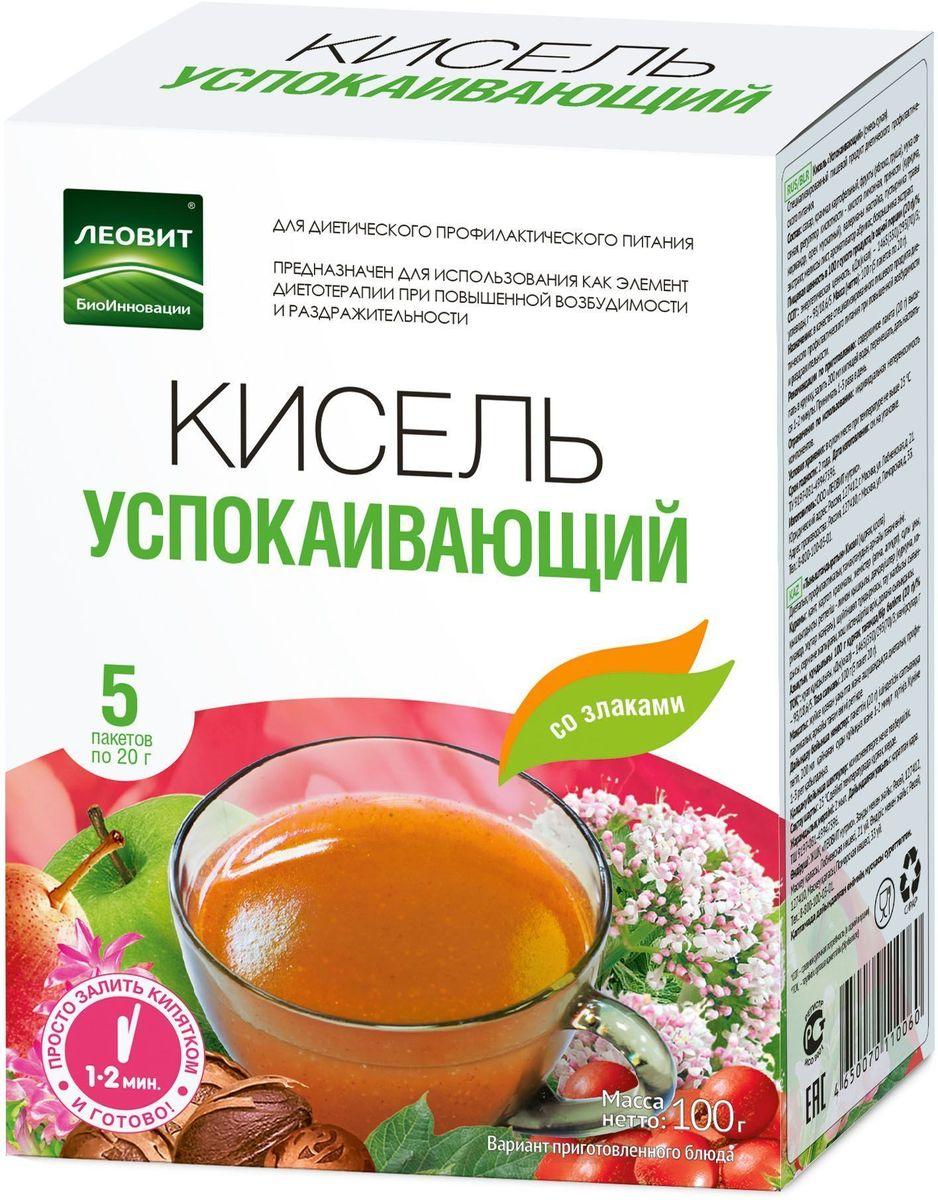 БиоИнновации Кисель успокаивающий, 5 пакетов по 20 г с пудовъ кисель молочный ванильный 40 г