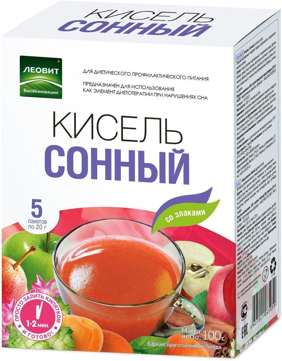 БиоИнновации Кисель сонный, 5 пакетов по 20 г с пудовъ кисель молочный ванильный 40 г