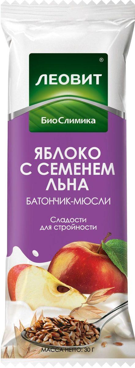 БиоСлимика Батончик-мюсли с яблоком и семенем льна, 30 г