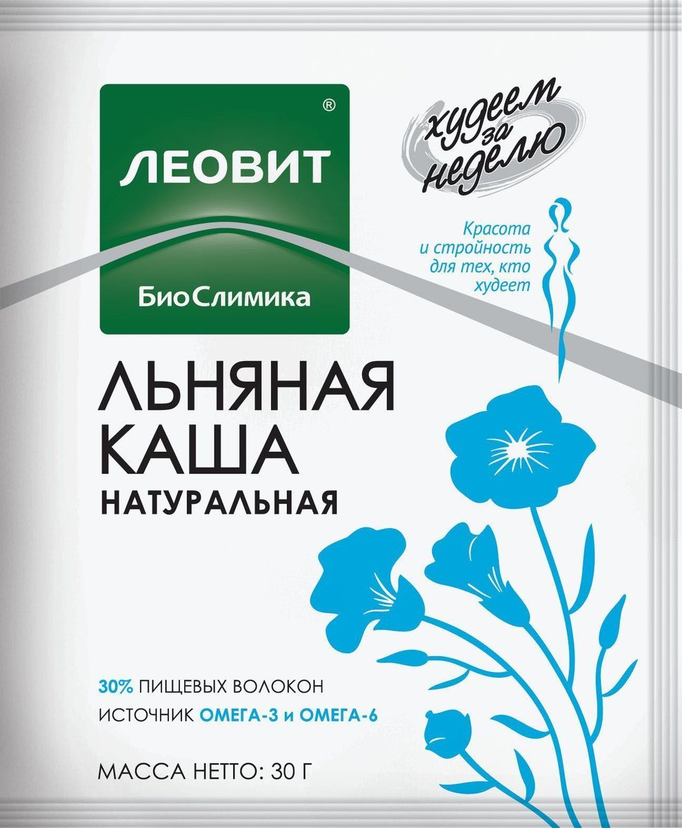 БиоСлимика Каша натуральная льняная, 30 г