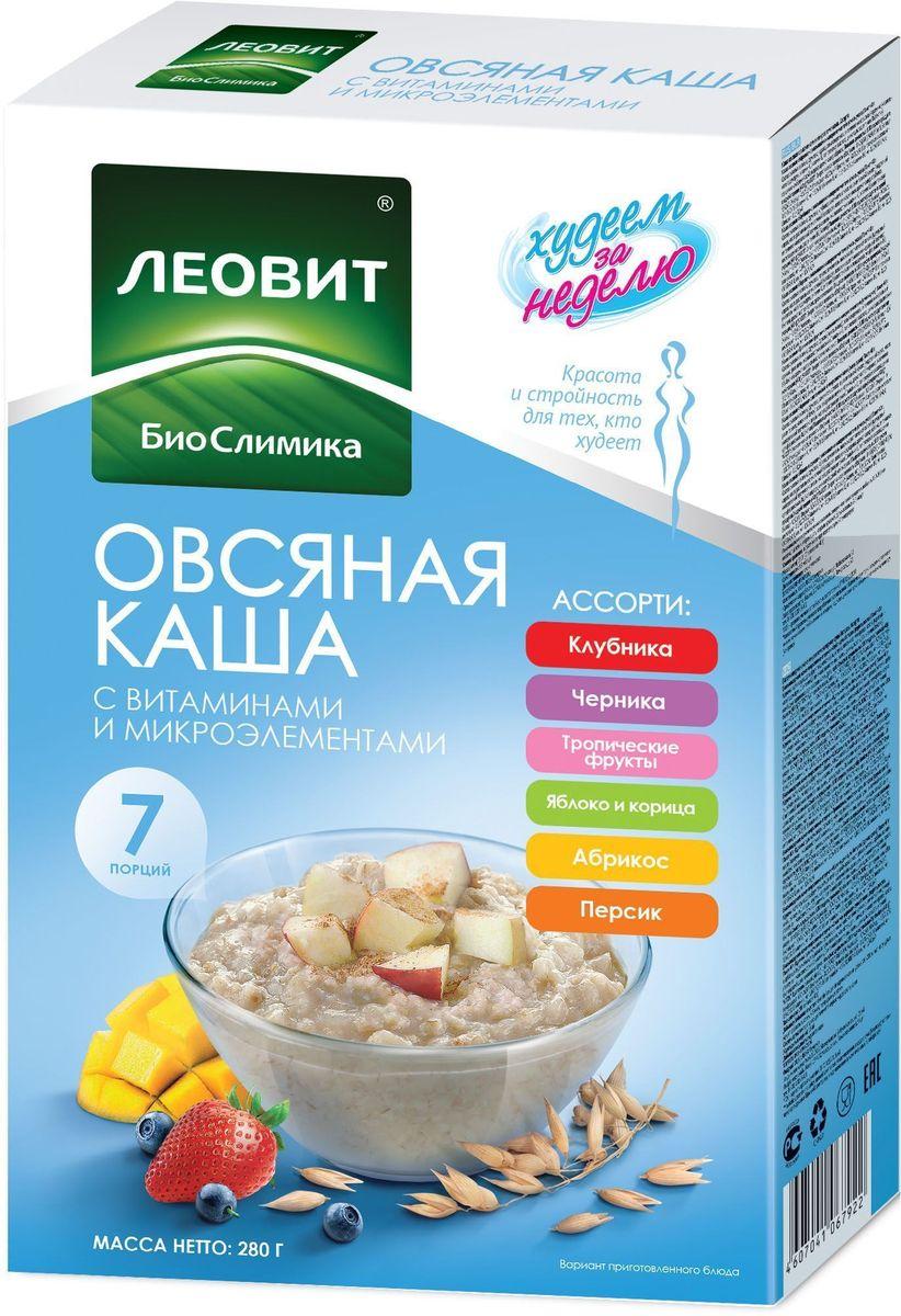 БиоСлимика Каша овсяная ассорти, 7 пакетов по 40 г