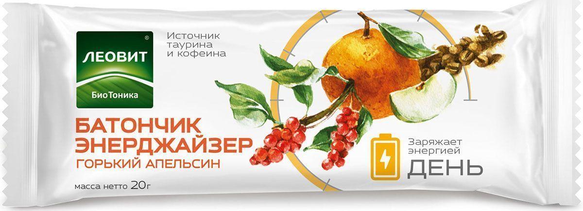 БиоТоника Энерджайзер горький апельсин батончик фруктовый, 20 г