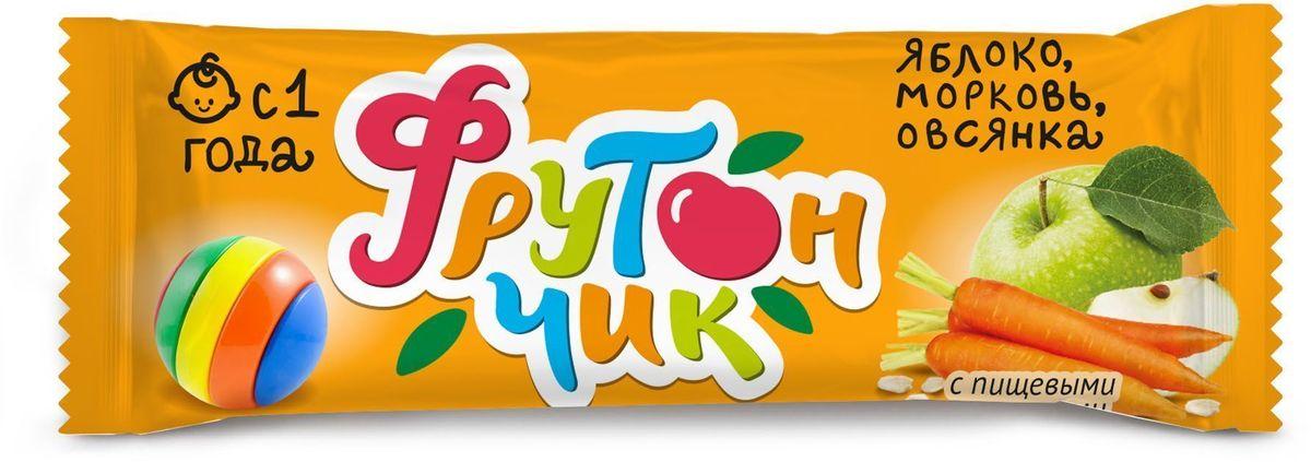 Фрутончик Батончик фруктовый со злаками, яблоко, морковь, овсянка, 20 г