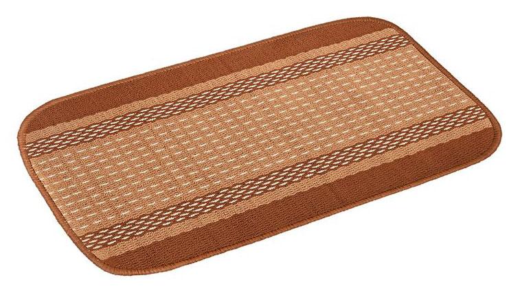 Коврик Vortex Madrid, цвет: темно-коричневый, 50 х 80 см22446Ворс коврика Vortex изготовлен из 100% полипропилена. Он оформлен ярким рисунком. Коврик оснащен выполненной из латекса подложкой, которая препятствует скольжению. Коврик Vortex гармонично впишется в интерьер вашего дома и создаст атмосферу уюта и комфорта. Изделие отлично подойдет как для использования в доме, так и снаружи.