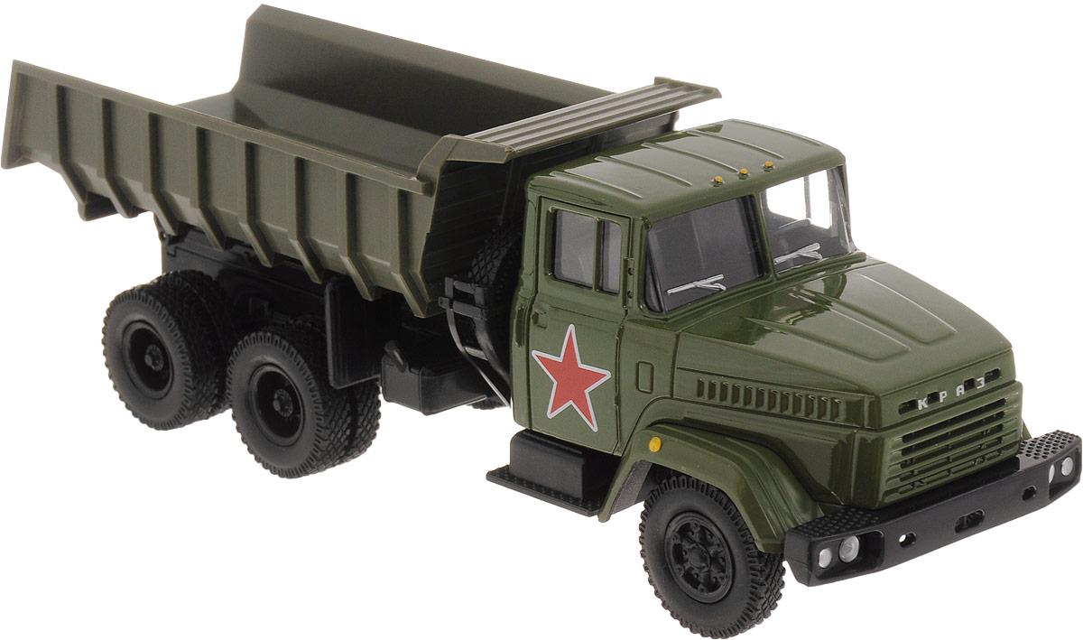 Autotime Модель автомобиля KRAZ-6510 цвет зеленый autotime модель автомобиля maz 5335 техпомощь