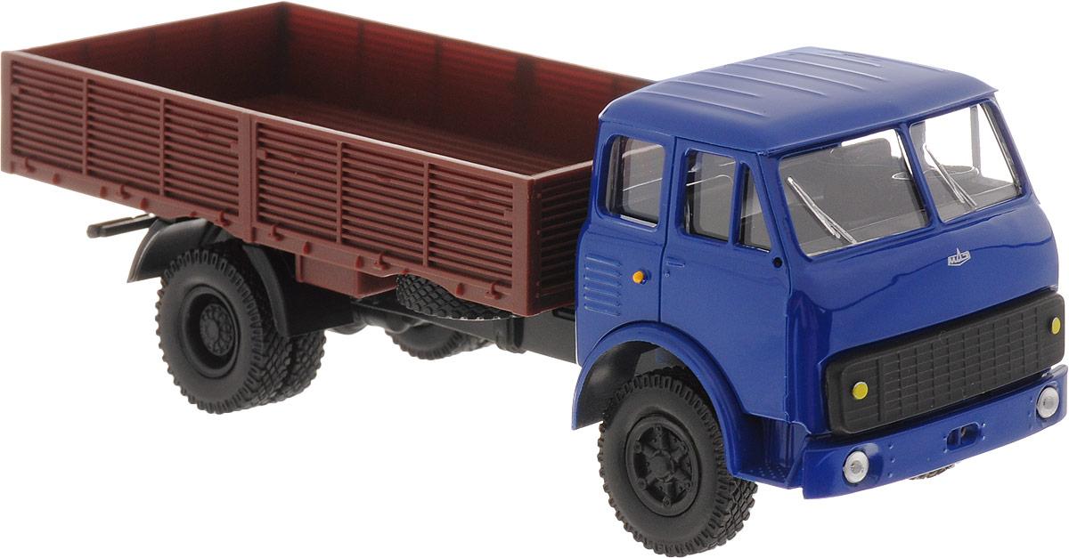 Autotime Модель автомобиля МAZ-5335 цвет синий коричневый бортовой грузовик autotime с тентом маз 516 в ассорт