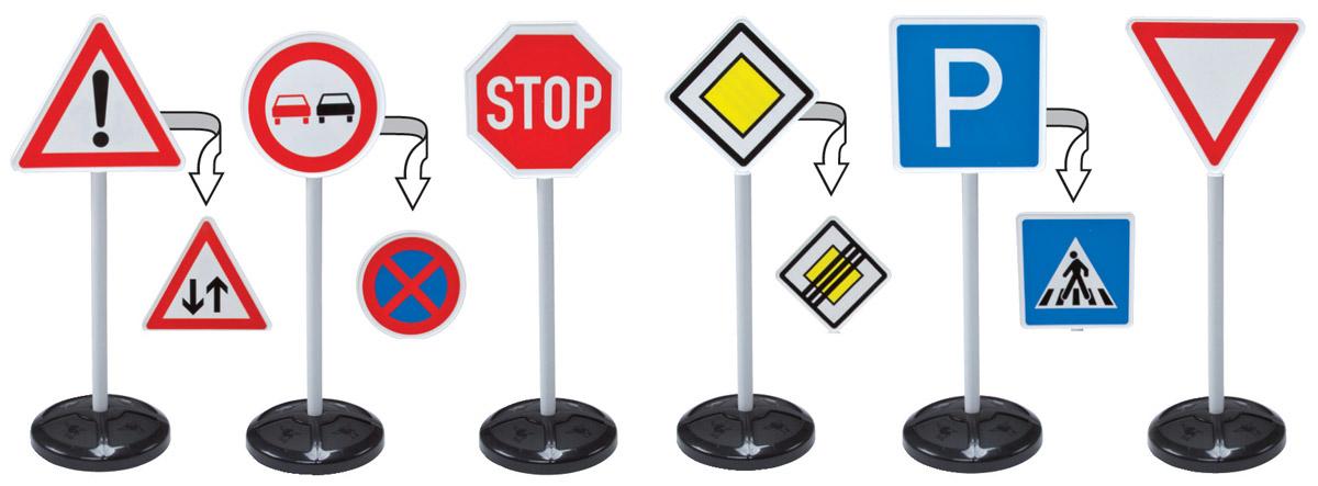 Big Игрушечные дорожные Traffic Signs 6 шт