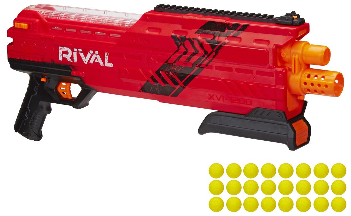 Nerf Бластер Rival Atlas XVI-1200 цвет красный как нарисовать nerf