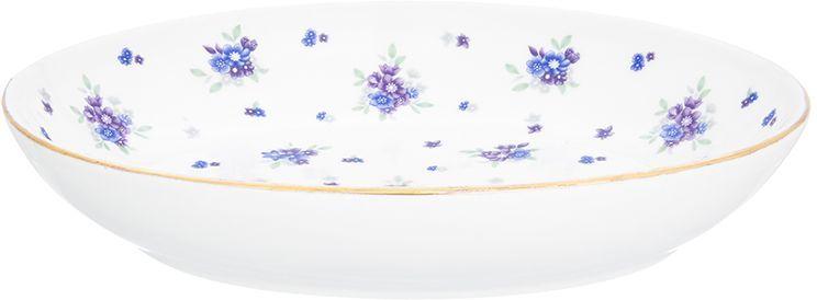 Блюдо для слоеных салатов Elan Gallery Сиреневый туман, 21,5 х 16 см, 600 мл лоферы baldinini baldinini ba097amzyd82