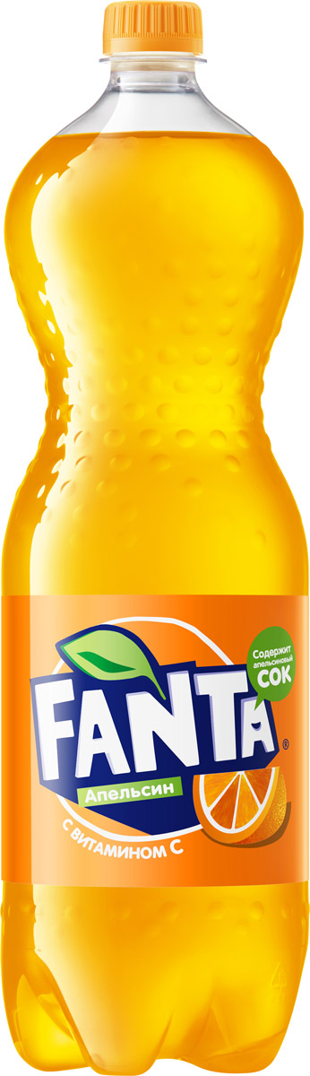 Fanta Апельсин напиток сильногазированный, 1,5 л добрый pulpy апельсин напиток сокосодержащий с мякотью 0 9 л