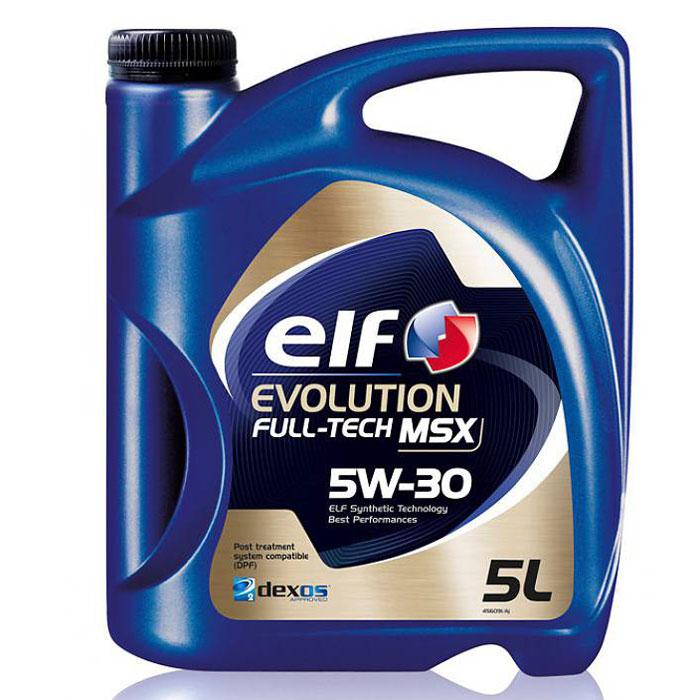 Моторное масло Elf Evolution. Full-Tech MSX, 5W-30194904Высококачественное моторное масло, изготавливаемое по синтетической технологии ELF, для всех типов бензиновых и дизельных двигателей автомобилей. Специально разработано для автомобилей, снабженных системами каталитического дожига выхлопных газов.Одобрения и спецификацииACEA C3API SN/CFVOLKSVAGEN: VW 502.00/505.01Dexos2BMW: LL-04MERCEDES BENZ: MB Approval 229.52 (Обратная совместимость с MB-approval 229.51 & 229.31)