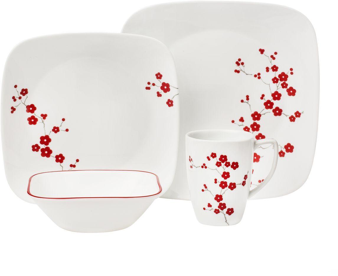Набор столовой посуды Corelle Hanami Garden, 16 предметов. 11012971101297Посуда Corelle мирового бренда WorldKitchen сделана из материала Vitrelle. Стекло Vitrelle является экологически чистым материалом без посторонних добавок. Идеальный белый цвет посуды достигается путем сверхвысокой термической обработки компонентов. Vitrelle сверхпрочный материал, используемый для столовой посуды, изобретенный в начале 1970х в Соединенных Штатах Америки. Материал сделан из трех слоев стекла спеченных вместе. Посуда Vitrelle тонка и легка при том, что является более ударопрочной по сравнению с обычной столовой посудой. Соль, полевой шпат, известняк, и 2 других вида соли попадают в печь, где при 1400 градусов Цельсия превращаются в жидкое стекло. Стекло заливается в молды, где соединяются 3 слоя в один. Края посуды обрабатываются огненной полировкой. Проходя через дополнительную обработку, три слоя приобретают сверхпрочность. Путем шелкографии на днище наносится бренд, а так же дополнительная информация. Узор на посуде так же наносится путем шелкографии. Готовая посуда подвергается воздействию 800 градусов для закрепления узора. В конце посуда обрабатывается спреем на основе силикона для исключения царапин при транспортировке.