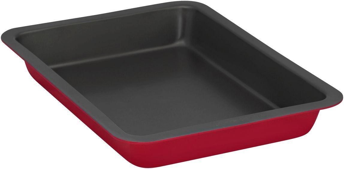 Форма для выпечки Bakers Secret Colors. Red Velvet, 33 х 23 см, цвет: красный. 11157241115724Коллекция форм для выпечки тортов Bakers Secret из США являются хорошим приобретением любой хозяйки. Данные товары пользуются спросом, поскольку их отличает высокое качество. Формы для запекания Bakers Secret - выполнены из высококачественной стали. Внешнее антипригарное покрытие для удобства ухода и утолщенные стенки гарантируют равномерное пропекание изделия. Стальные формы для запекания стали популярными намного позже чугунных и керамических, и главное их преимущество – это абсолютная химическая нейтральность. Качественная нержавеющая сталь никак не скажется на вкусе готовой пищи и не будет подвержена воздействию кислот и щелочей, содержащихся в моющих средствах. Можно мыть в посудомоечной машине.