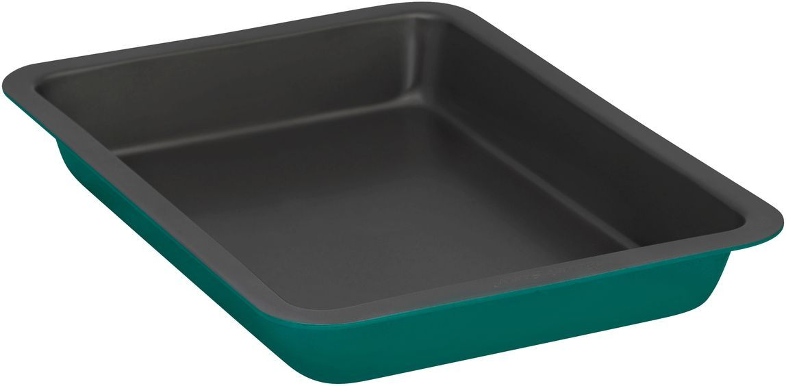 Форма для выпечки Bakers Secret Colors. Pine Green, 33 х 23 см, цвет: зеленый. 11157251115725Коллекция форм для выпечки тортов Bakers Secret из США являются хорошим приобретением любой хозяйки. Данные товары пользуются спросом, поскольку их отличает высокое качество. Формы для запекания Bakers Secret - выполнены из высококачественной стали. Внешнее антипригарное покрытие для удобства ухода и утолщенные стенки гарантируют равномерное пропекание изделия. Стальные формы для запекания стали популярными намного позже чугунных и керамических, и главное их преимущество – это абсолютная химическая нейтральность. Качественная нержавеющая сталь никак не скажется на вкусе готовой пищи и не будет подвержена воздействию кислот и щелочей, содержащихся в моющих средствах. Можно мыть в посудомоечной машине.