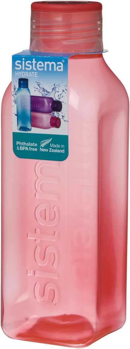 Бутылка для воды Sistema Hydrate, цвет: розовый, 725 мл. 880880Бутылка Sistema Hydrate предназначена для людей с активным образом жизни, для тех кто все успевает.Оригинальная система клапана для закрытия различные емкости контейнеров. Надежность закрытия контейнера.Материал контейнера свободный от фенола и других вредных примесей.Серия контейнеров и бутылок по принципу возьми с собой SISTEMA To Go. Объем: 725 мл.