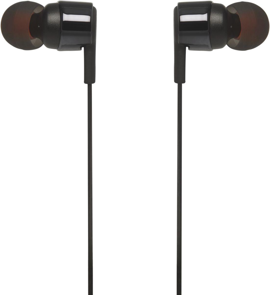 JBL T210, Black наушникиJBLT210BLKПредставляем внутриканальные наушники JBL T210. Они легкие, удобные и компактные. Внутри корпуса ушных вкладышей с металлической отделкой находится пара 8,7-мм динамиков, способных выдавать весьма мощные басы и воспроизводить мощный звук JBL Pure Bass, который можно услышать в концертных залах, на спортивных аренах и в звукозаписывающих студиях по всему миру. Кроме того, однокнопочный пульт позволяет управлять воспроизведением музыки, а также отвечать на звонки с помощью встроенного микрофона. Все это делает модель T210 удобным партнером для повседневного использования на работе, дома и в дороге.