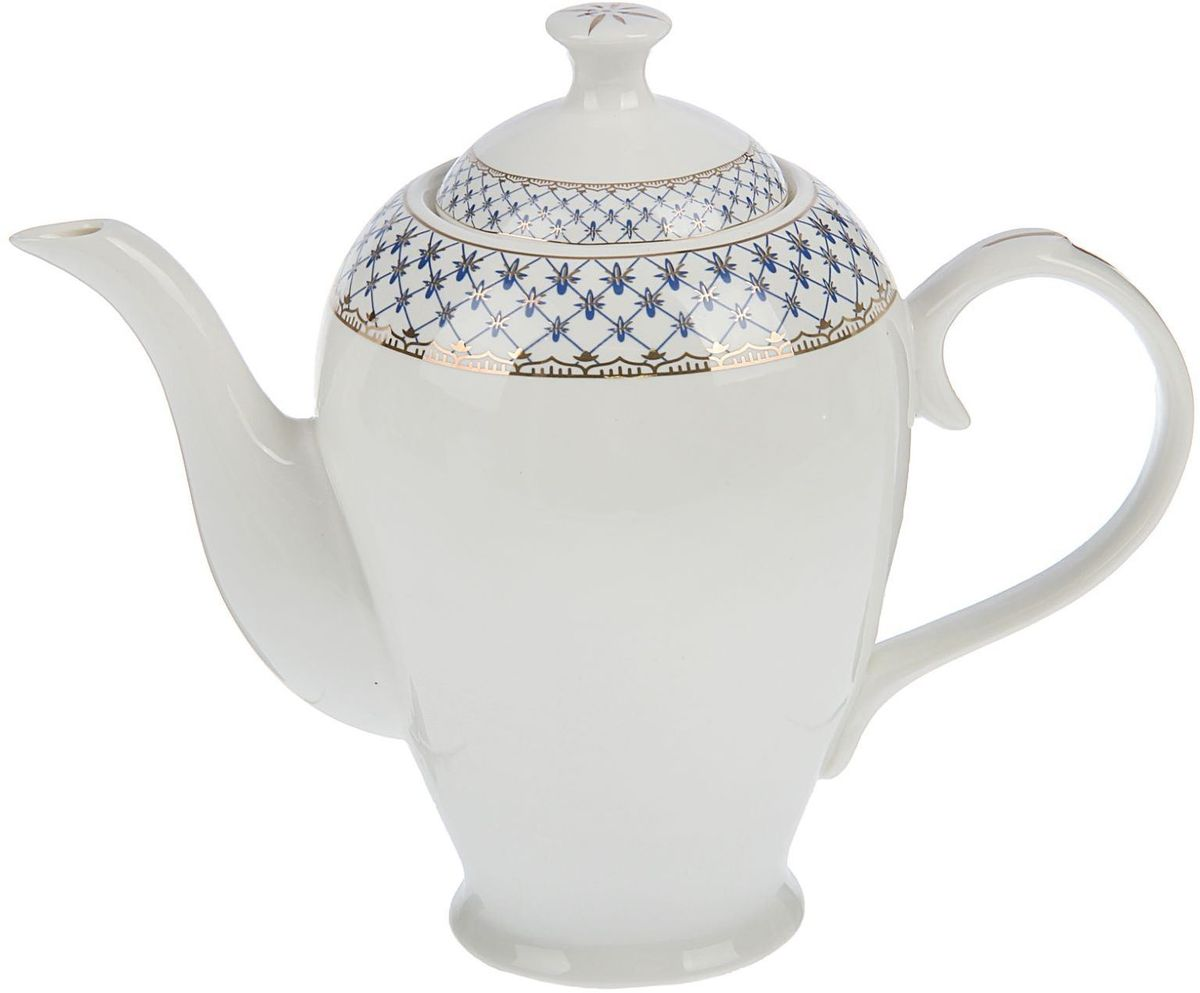 Чайник заварочный Доляна Рим, 1,3 л1405182Чайник заварочный Доляна выполнен из высококачественной керамики с глазурованным покрытием. Посуда отличается прозрачностью и белизной, она неприхотлива и не требует особых условий хранения. Материал изделия долгое время сохраняет тепло, нейтрален к пищевым продуктам, легко моется. Чайник имеет традиционную форму, внешние стенки дополнены красивым рельефным орнаментом. Высокие эксплуатационные качества делают изделие удачным выбором для повседневного использования и сервировки праздничного стола.
