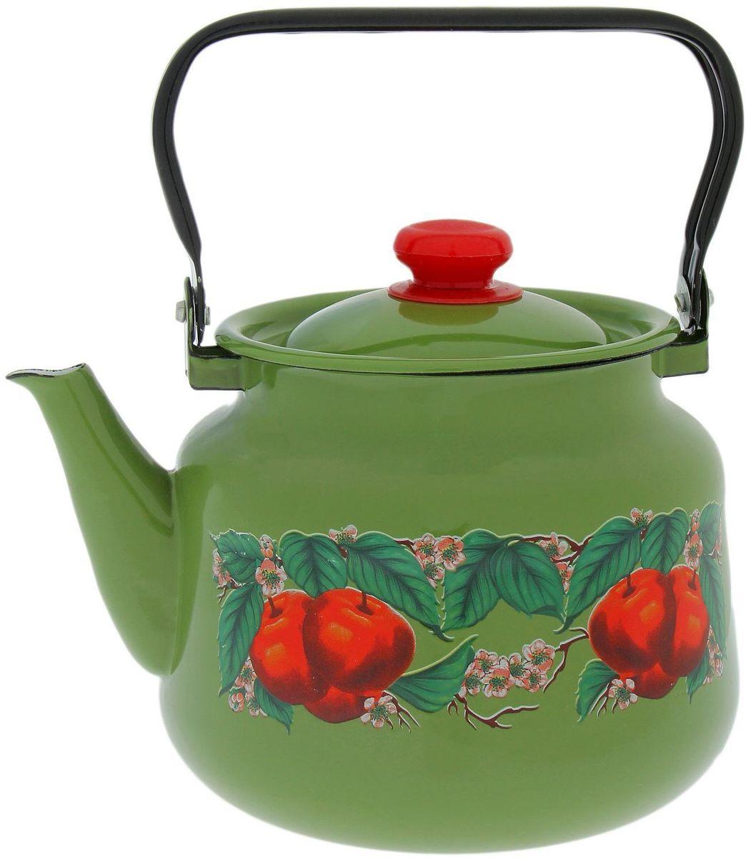 Чайник эмалированный Epos Яблоко зеленое, 3,5 л1770692Чайник Epos Яблоко зеленое выполнен из высококачественной стали с эмалированным покрытием. Поверхность чайникагладкая, что облегчает уход за ним. Большой объемпозволит приготовить напиток для всей семьи илинебольшой компании. Эстетичный и функциональный чайник будеторигинально смотреться в любом интерьере. Душевная атмосфера и со вкусом накрытый стол всегда будут собирать в вашем доме близких и друзей.Чайник подходит для использования на всех типах плит. Объем: 3,5 л.