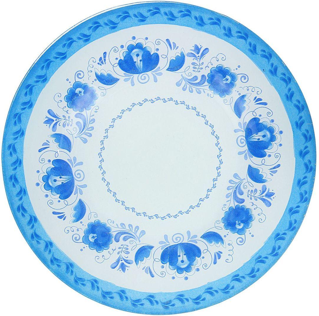 Тарелка десертная Доляна Гжель, диаметр 20 см1571460Тарелка Доляна с природными мотивами в оформлении разнообразит интерьер кухни и сделает застолье самобытным и запоминающимся. Качественное стекло не впитывает запахов, гладкая поверхность обеспечивает легкость мытья.Рекомендуется избегать использования абразивных моющих средств.Делайте любимый дом уютнее!