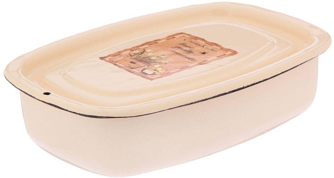 """Лоток Epos """"Квітник"""" выполнен из высококачественной эмалированной стали. Эмалевое покрытие имеет существенные преимущества по показателям безопасности влияния на организм человека, санитарным свойствам, простоте ухода и рассчитан на длительный срок эксплуатации.Изделие оснащено крышкой и оформлено ярким рисунком.   Лоток прекрасно впишется в интерьер вашей кухни и станет достойным дополнением к кухонному инвентарю."""