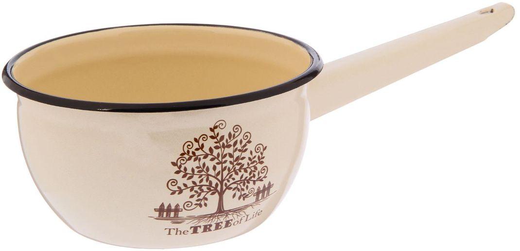 """Ковш Epos """"Tree"""" изготовлен из высококачественной стали с эмалированным покрытием.Пища не пригорает и не прилипает к стенкам и дну посуды. От хорошей кухонной утвари зависит половина успеха аппетитного блюда. Чтобы еда была вкусной, важно ее правильно приготовить и сервировать. Вся посуда бренда Epos изготовлена из проверенных материалов, безопасна в использовании, будет долго радовать вас своим внешним видом и высоким качеством. Объем: 1,5 л."""