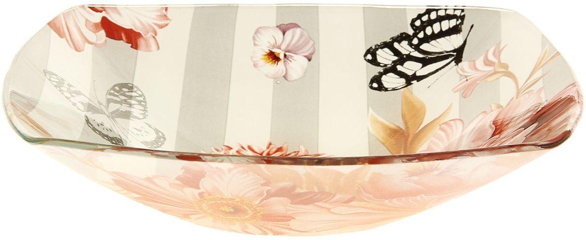 Тарелка глубокая Доляна Полоска, 20 х 20 см230496Тарелка Доляна с природными мотивами в оформлении разнообразит интерьер кухни и сделает застолье самобытным и запоминающимся. Качественное стекло не впитывает запахов, гладкая поверхность обеспечивает легкость мытья.Рекомендуется избегать использования абразивных моющих средств.Делайте любимый дом уютнее!