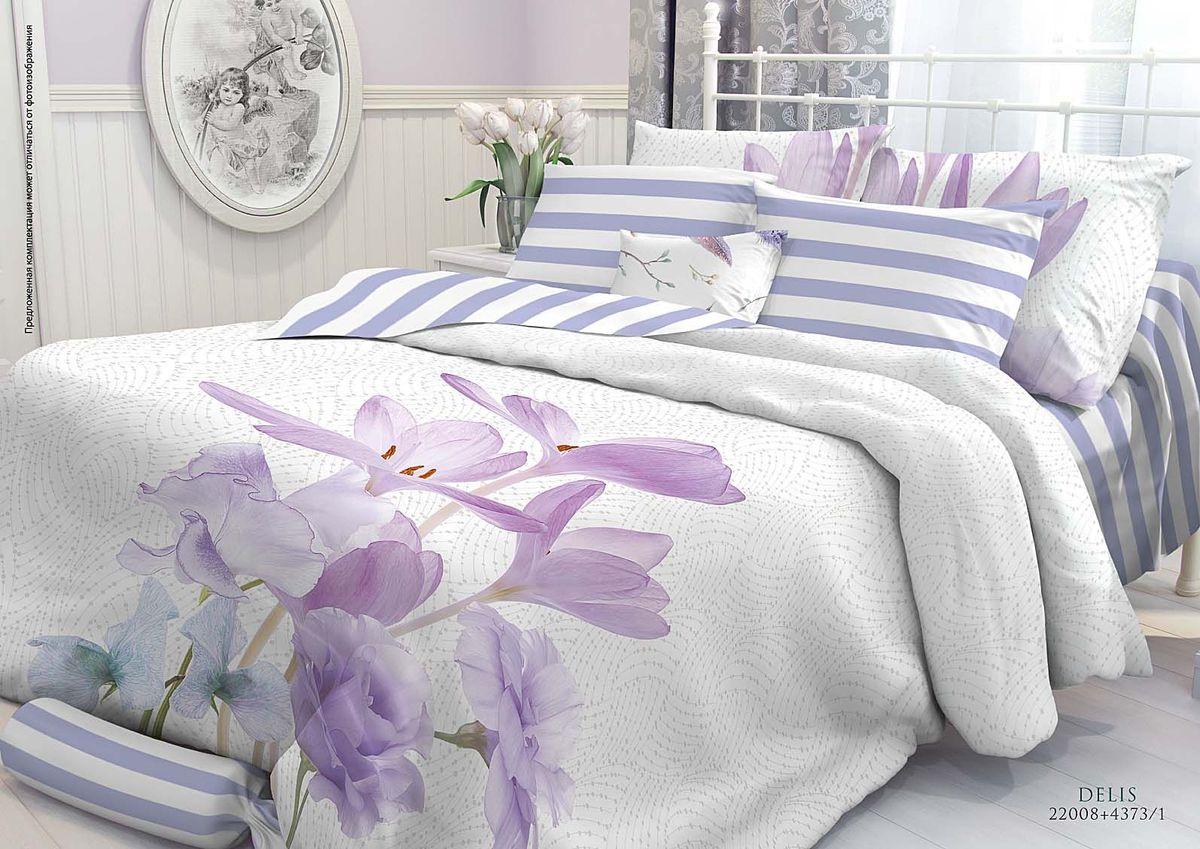 Комплект белья Verossa Delis, 1,5-спальный, наволочки 50х70707451Комплект постельного белья включает в себя четыре предмета: простыню, пододеяльник и две наволочки, выполненные из перкаля.Перкаль - это тонкая, повышенной плотности в основном белая хлопчатобумажная ткань полотняного переплетения. Размер пододеяльника: 148 x 215 см.Размер простыни: 180 x 215 см.Размер наволочек: 50 x 70 см.