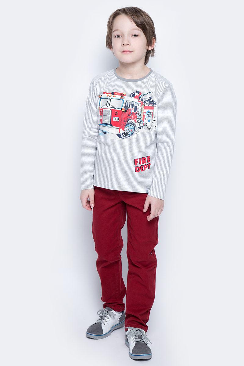Футболка с длинным рукавом для мальчика PlayToday, цвет: серый, белый, красный. 171070. Размер 98171070Футболка с длинным рукавом для мальчика PlayToday из эластичного хлопка подойдет для прохладной погоды. Натуральный материал не сковывает движений ребенка. Яркий принт на футболке понравится вашему моднику.