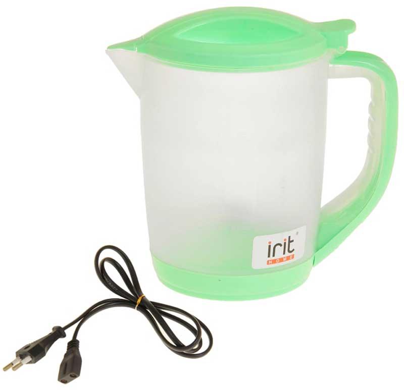 Irit IR-1122 электрический чайник79 02389Электрический чайник Irit IR-1122 прост в управлении и долговечен в использовании. Корпус изготовлен из термостойкого пластика. Мощность 600 Вт быстро вскипятит 1,2 литра воды.