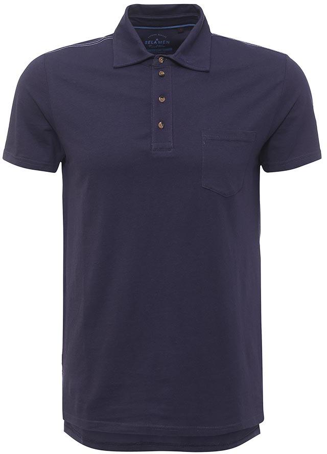 Поло мужское Sela, цвет: темно-синий. Tsp-211/100-7213. Размер XS (44) поло sela футболка поло