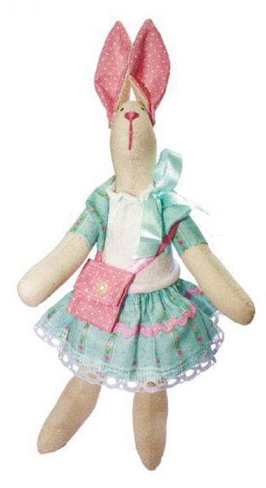 Набор для изготовления текстильной игрушки Кустарь Зайка Модница, высота 29 см игрушки для детей