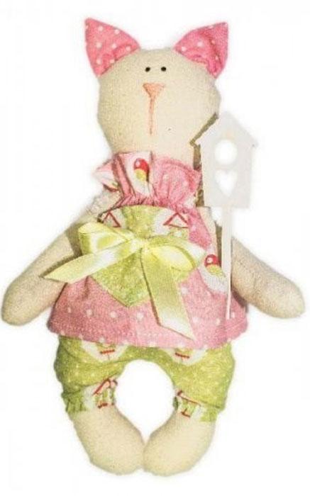 Набор для изготовления текстильной игрушки Кустарь Кошка Тася, высота 23 см