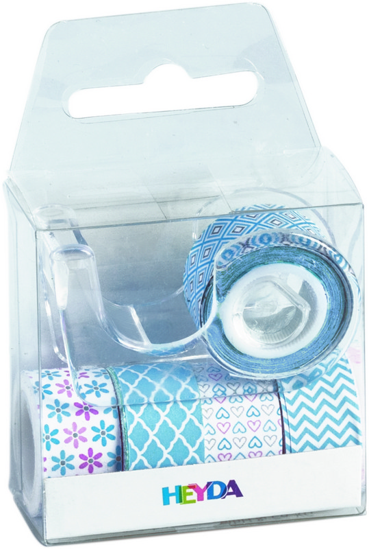Набор декоративных клеевых лент Stewo Pastel Mini, цвет: голубой, 5 шт набор лент 5 шт