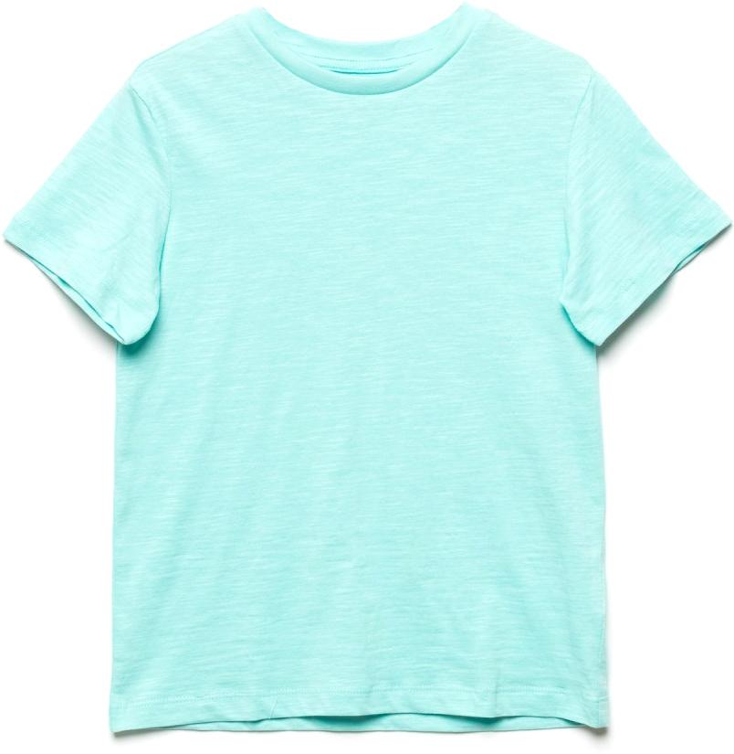 Футболка для мальчика Sela, цвет: голубой. Ts-811/608-7224. Размер 122, 7 летTs-811/608-7224Стильная футболка для мальчика Sela изготовлена из натурального хлопка однотонного цвета. Воротник дополнен мягкой трикотажной резинкой. Универсальная модель позволит создавать комбинации, как в повседневном, так и в спортивном стиле.