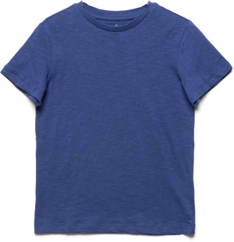 Футболка для мальчика Sela, цвет: чернильный синий. Ts-811/608-7224. Размер 128, 8 летTs-811/608-7224Стильная футболка для мальчика Sela изготовлена из натурального хлопка однотонного цвета. Воротник дополнен мягкой трикотажной резинкой. Универсальная модель позволит создавать комбинации, как в повседневном, так и в спортивном стиле.