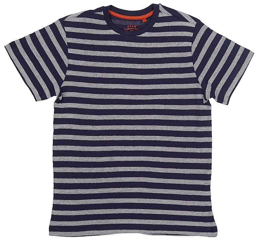 все цены на  Футболка для мальчика Sela, цвет: темно-синий. Ts-811/1070-7213. Размер 152, 12 лет  онлайн