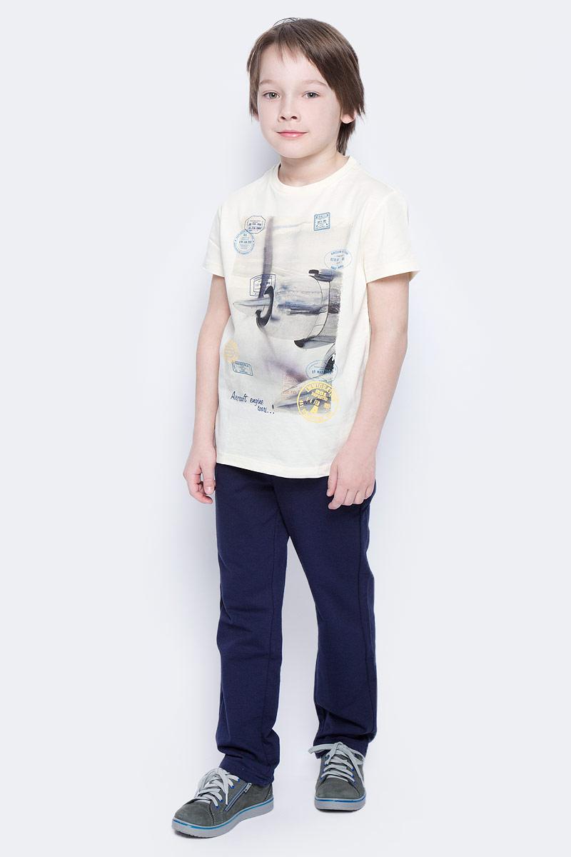 Футболка для мальчика Sela, цвет: серовато-янтарный. Ts-811/1057-7112. Размер 152 футболка для мальчика sela цвет светло серый меланж ts 811 109 7331 размер 152