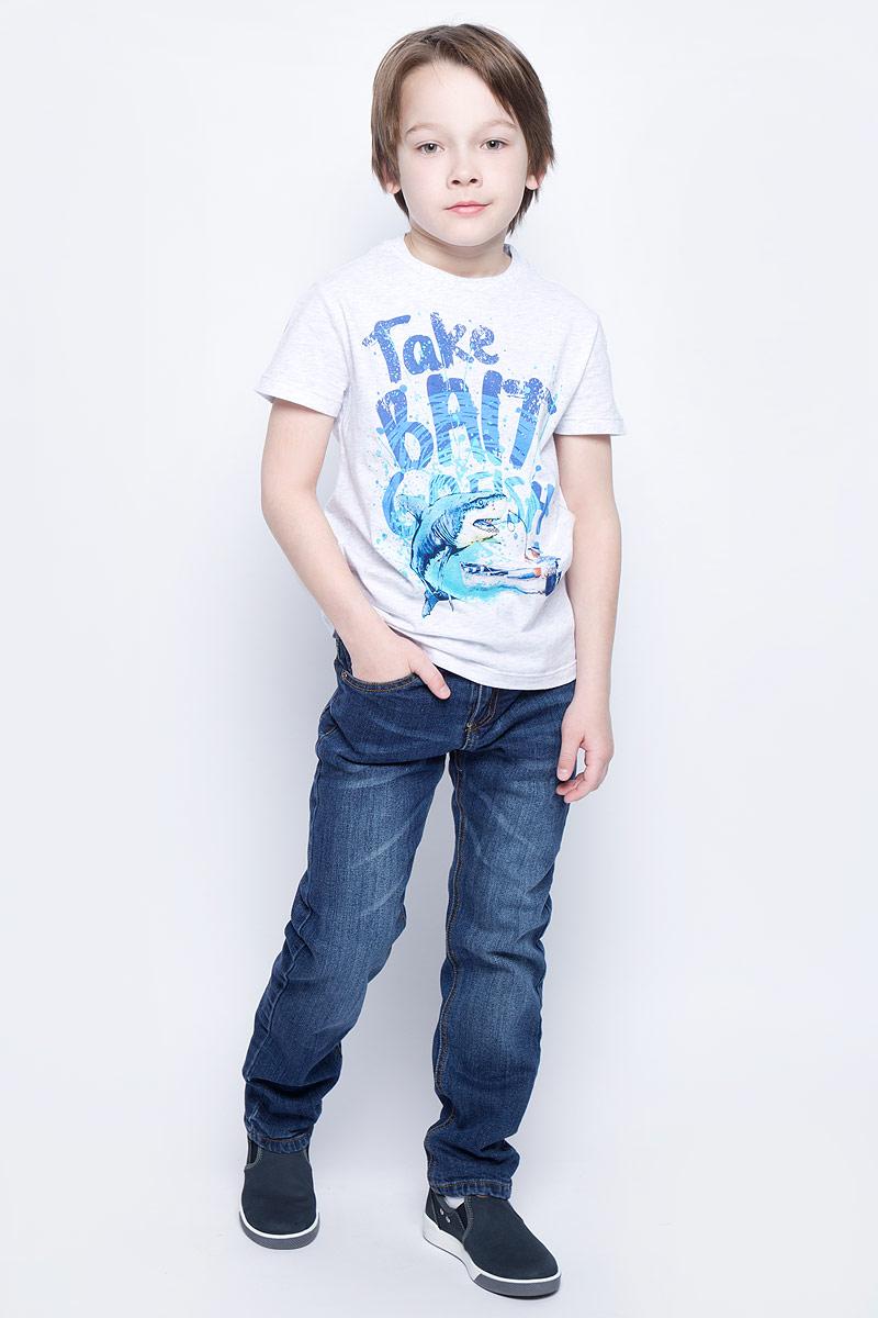 Футболка для мальчика Sela, цвет: светло-серый меланж. Ts-811/1072-7213. Размер 134, 9 летTs-811/1072-7213Стильная футболка для мальчика Sela изготовлена из натурального хлопка и оформлена оригинальным принтом. Воротник дополнен мягкой трикотажной резинкой.Яркий цвет модели позволяет создавать модные образы.