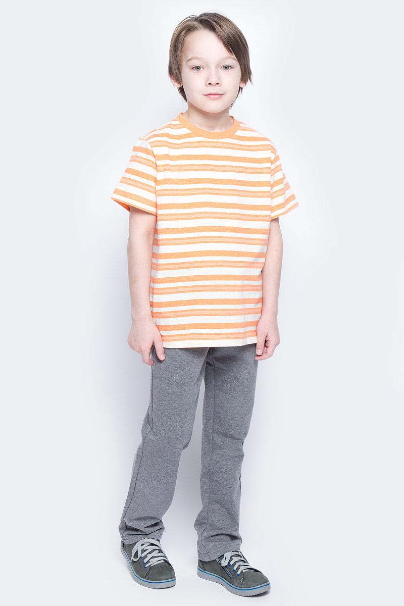 Брюки спортивные для мальчика Sela, цвет: темно-серый меланж. Pk-815/336-7132. Размер 128, 8 летPk-815/336-7132Удобные спортивные брюки для мальчика Sela выполнены из качественного хлопкового материала и дополнены двумя прорезными карманами. Брюки прямого кроя и стандартной посадки на талии имеют широкий пояс на мягкой резинке, дополнительно регулируемый шнурком.