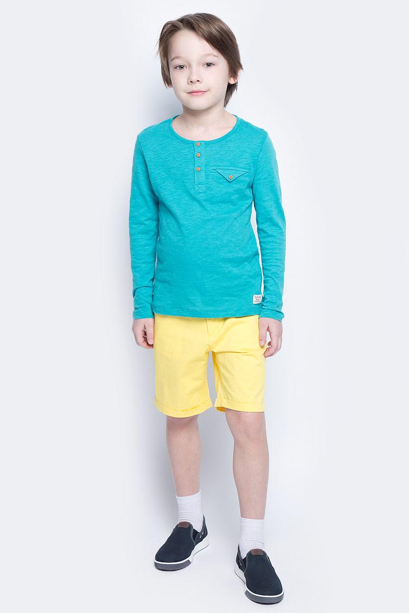 Шорты для мальчика Button Blue Main, цвет: желтый. 117BBBC60022700. Размер 158, 13 лет117BBBC60022700Яркие шорты - залог стильного образа для каждого дня лета. Отличные шорты из хлопка с эластаном гарантируют прекрасный внешний вид, комфорт и свободу движений. В компании с любой майкой, футболкой, рубашкой шорты составят достойный летний комплект. Если вы хотите купить недорогие детские шорты, не сомневаясь в их качестве, высоких потребительских свойствах и соответствии модным трендам, шорты для мальчика от Button Blue - лучший вариант!