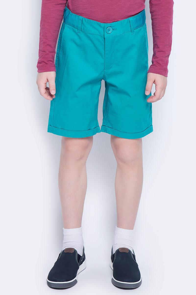 Шорты для мальчика Button Blue Main, цвет: бирюзовый. 117BBBC60022800. Размер 104, 4 года шорты button blue шорты