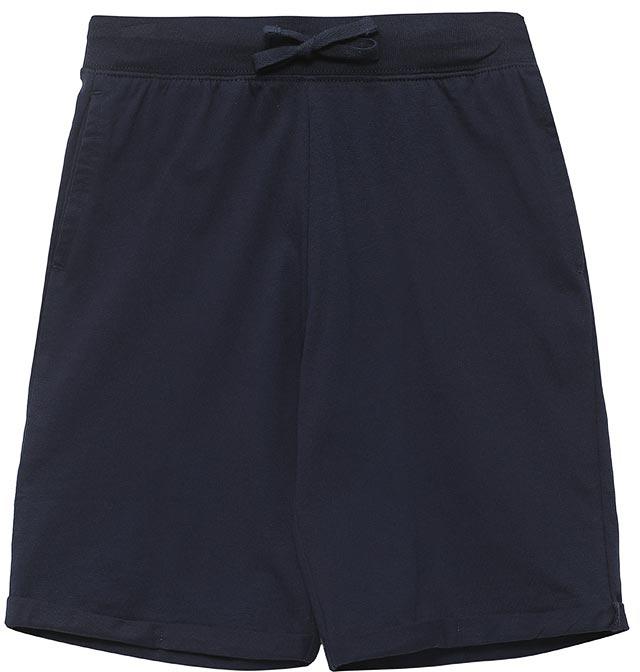 Шорты для мальчика Sela, цвет: темно-синий. SHk-815/337-7224. Размер 140, 10 летSHk-815/337-7224Удобные шорты для мальчика Sela выполнены из качественного хлопкового материала и дополнены двумя прорезными карманами. Шорты прямого кроя и стандартной посадки на талии имеют широкий пояс на мягкой резинке, дополнительно регулируемый шнурком.