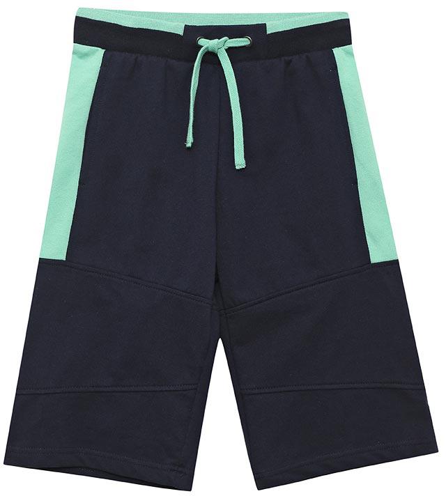 Шорты для мальчика Sela, цвет: темно-синий. SHk-815/315-7122. Размер 140, 10 летSHk-815/315-7122Стильные шорты для мальчика Sela выполнены из качественного хлопкового материала в спортивном стиле. Шорты прямого кроя и стандартной посадки на талии имеют широкий пояс на мягкой резинке, дополнительно регулируемый шнурком. Модель оформлена контрастными вставками и дополнена двумя прорезными карманами.