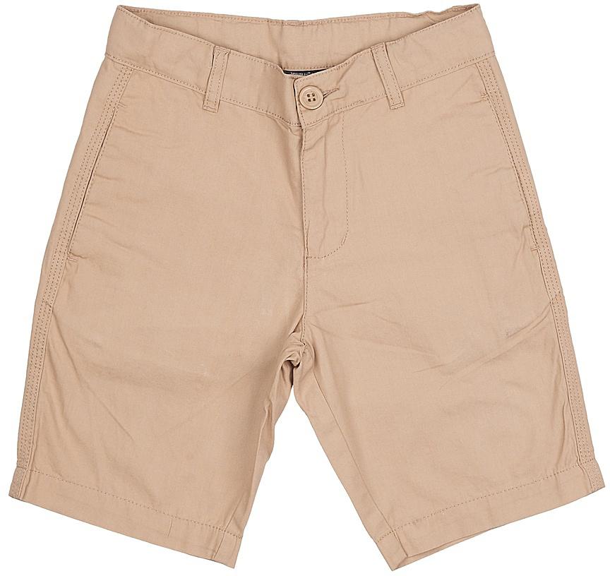 Шорты для мальчика Sela, цвет: песочный. SH-815/340-7224. Размер 152, 12 летSH-815/340-7224Стильные шорты для мальчика Sela, изготовленные из натурального хлопка, станут отличным дополнением гардероба в летний период. Шорты прямого кроя до колен и стандартной посадки на талии застегиваются на застежку-молнию и пуговицу. На поясе имеются шлевки для ремня. Спереди и сзади модель дополнена двумя прорезными карманами.