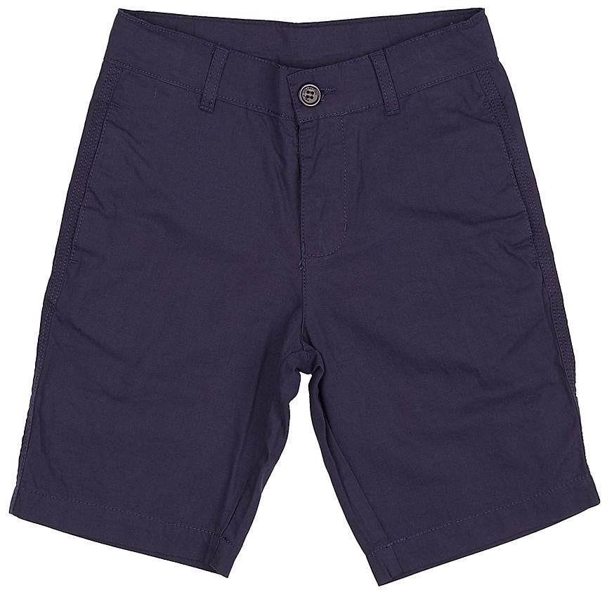 Шорты для мальчика Sela, цвет: темно-синий. SH-815/340-7224. Размер 146, 11 летSH-815/340-7224Стильные шорты для мальчика Sela, изготовленные из натурального хлопка, станут отличным дополнением гардероба в летний период. Шорты прямого кроя до колен и стандартной посадки на талии застегиваются на застежку-молнию и пуговицу. На поясе имеются шлевки для ремня. Спереди и сзади модель дополнена двумя прорезными карманами.